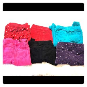 Bundle of 7 pairs of 18 month pants